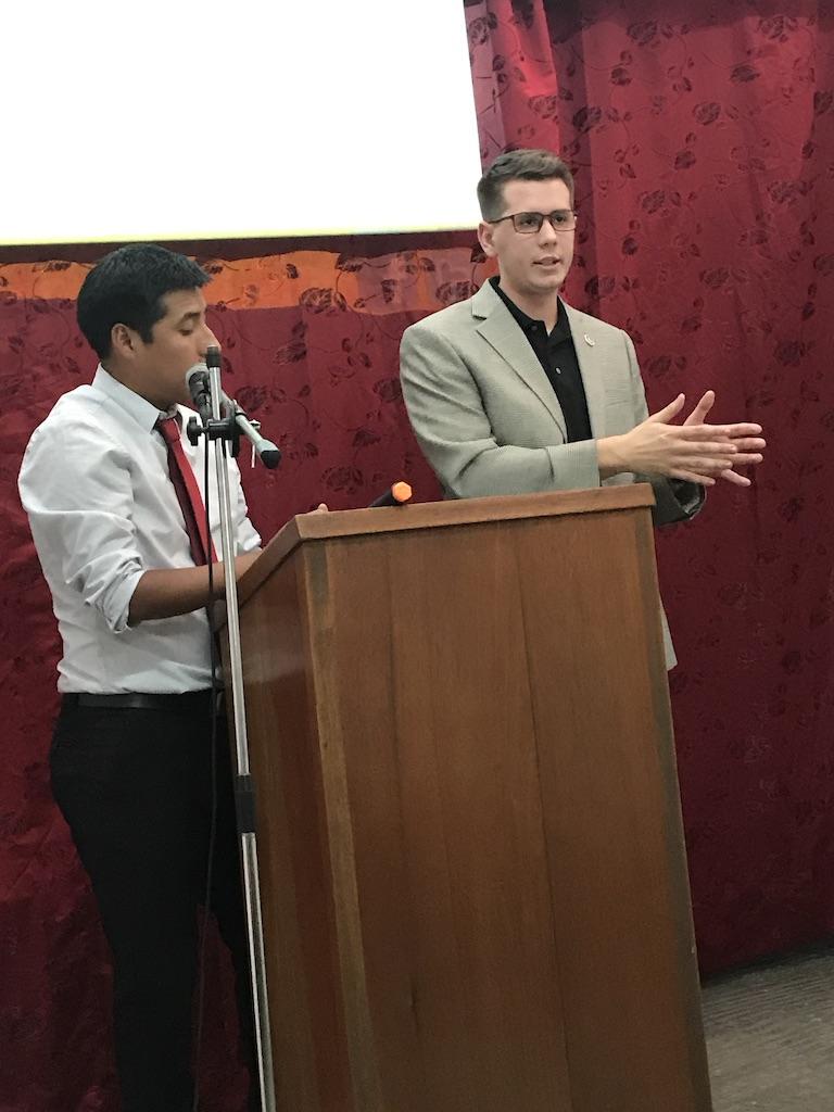 Zach Preaching in Peru